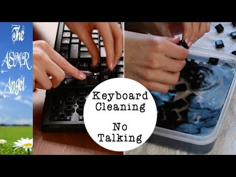 Back to basics ASMR - Keyboard Cleaning - No Talking