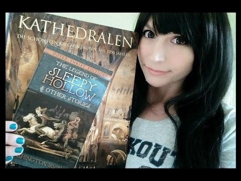 ASMR Sleepy Hollow Close Up Whispers . Cathedrals Page Flipping & Tracing