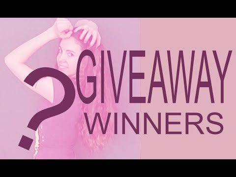 ANNOUNCING THE GIVEAWAY WINNERS! ASMR