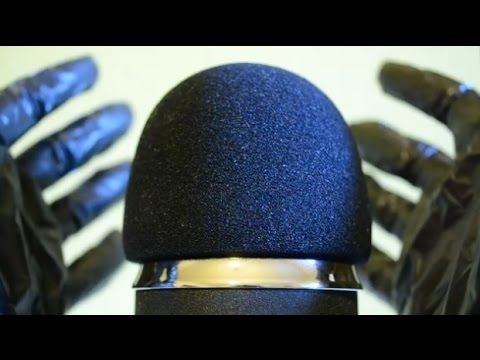 ASMR Close Up Crinkles . Mic Touching & Squishing with Crinkly Gloves