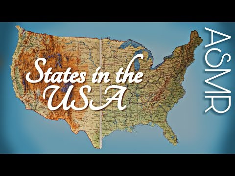 ASMR US States on Map with Pointer