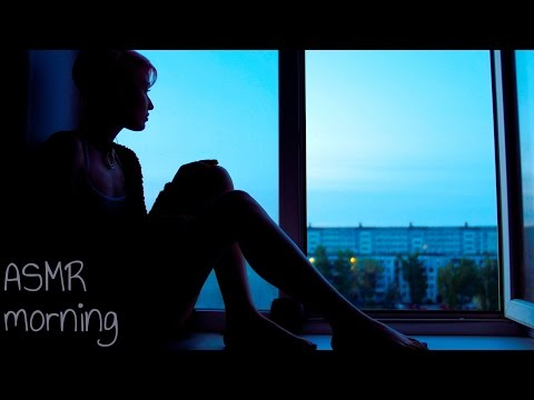 4k ASMR Sleep y morning. Visual asmr with eating and smoking in loneliness.