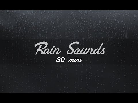 Real Rain Sounds On Window - Atmospheric - ASMR - 30 Mins Relaxation