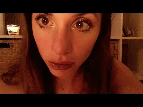ASMR - unintelligente whispering with some mouth sounds - close up to mic