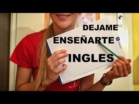 Binaural ASMR ✏✏ Let Me Teach You English (Spanish) ✏✏