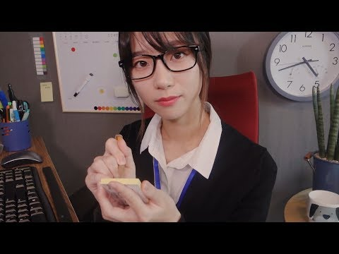 Little Delight in the Office📎/ ASMR Taking Care of You & Fixing Your Makeup Roleplay