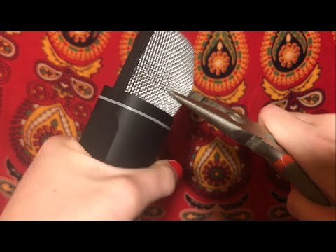 ASMR LOOKING WHATS INSIDE A MICROPHONE