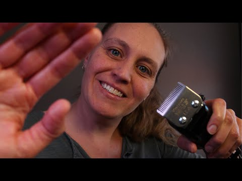 ASMR Barbershop Haircut and Scalp Massage | Electric Clipper and Scissor Sounds | Close Up Roleplay