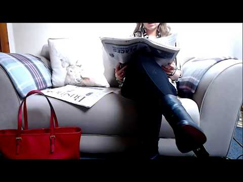 ASMR Newspaper Page Turning And Reading With High Heels Intoxicating Sounds Sleep Help Relaxation