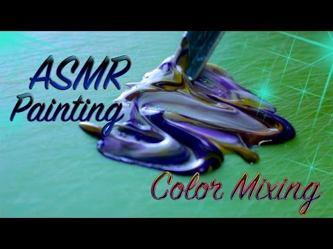 ASMR Painting ( Color mixing)