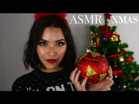 ASMR Christmas With Me! (Whispers, Tapping, Plastic sounds, Eating sounds, Song Humming...)