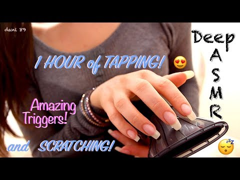💤 Deep ASMR ✶ ⏱ 1 full HOUR of TAPPING + bonus: 10 min of SCRATCHING! 🎧 ↬ so tingly! ↫ ☾