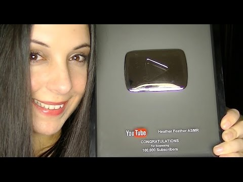 Youtube Silver Play Button for an ASMR Channel!  THANK YOU!  (I Packed My Bags For A Feels Trip)