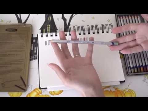 ASMR Testing Derwent Metallic Water Soluble Colour Pencils (with Whispering)