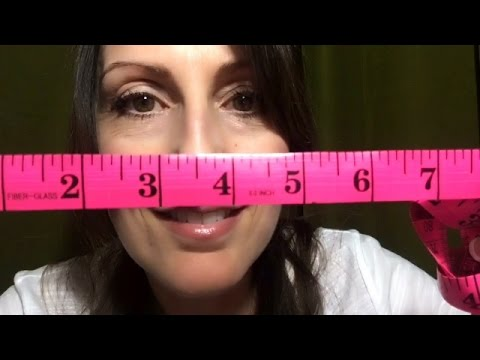 ASMR Face Measuring Role Play| Tingly Tape Measurement Sounds