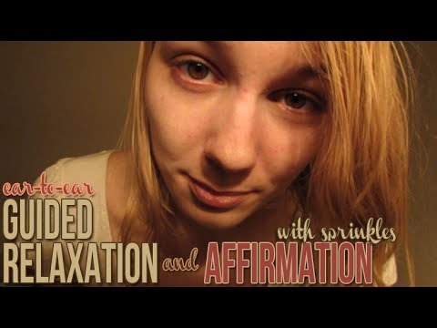 [BINAURAL ASMR] Ear-to-Ear (Sprinkle Sounds) Guided Relaxation and Affirmation