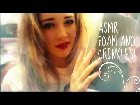 ASMR playing with floral foam! +crinkles and close up whispers!