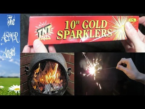 ASMR Bonfire Night Special with Sparklers and Fire Sounds (Binaural - 3D Sound)