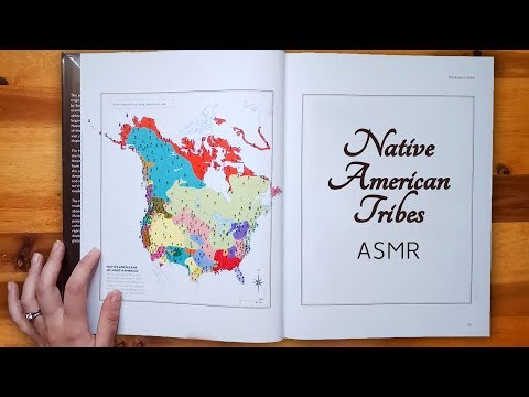 Exploring a Map of Native American Tribes ASMR