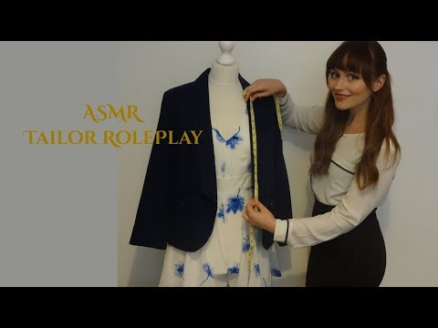 ASMR tailors role play ~ Whispered, fabric sounds