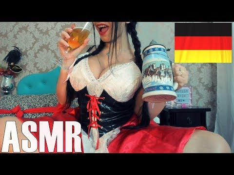 ASMR Tapping and Mouth Sounds COSPLAY GIRL Alemã