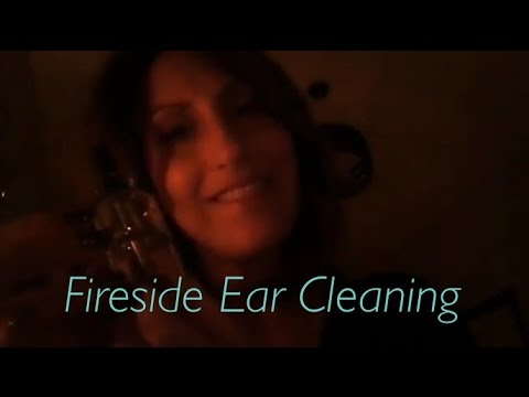 ASMR Relaxing Fireside Ear Cleaning with Ear Drops | Ear Massage & Feather Tickles