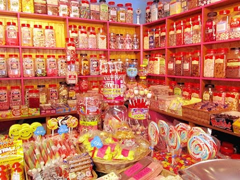 WHISPER ASMR RP - SWEETS / CANDY SHOP - CRINKLY WRAPPER SOUNDS - TINGLY TREATS