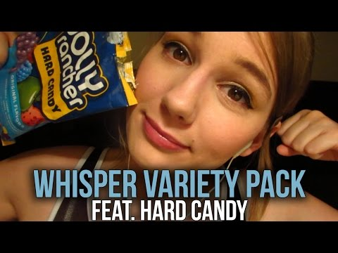 [BINAURAL ASMR] Whisper Variety Pack feat. Hard Candy (sk, left side/right side, omnom)