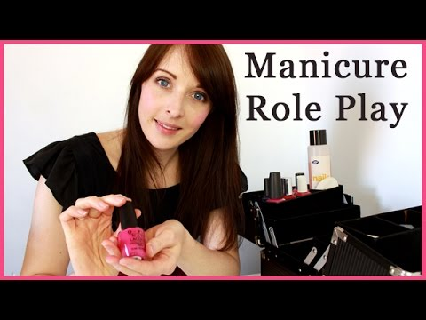 ASMR Role Play - Spa Manicure / Painting Nails - Personal Attention