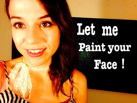 Unisex Face Painting for a Music Festival* Soft Speaking *Close Friend Role Play ((ASMR))