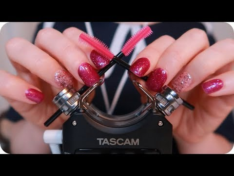 ASMR INTENSE Silicone Brushes On YOUR Ears and Delicate Tascam Capsule Touching for Tingles ~