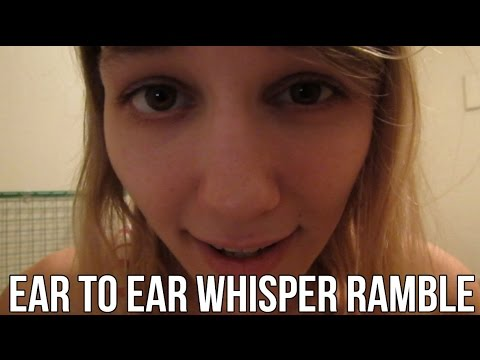 [BINAURAL ASMR] Ear-to-Ear Whisper Ramble (with some sk and left/right/top side)