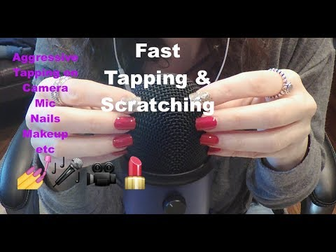 ASMR Fast and Aggressive Tapping and Scratching on Camera, Mic, Nails, Etc.