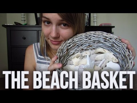 [BINAURAL ASMR] The Beach Basket (tapping, visual, smoothing sounds, scratching, crackling)
