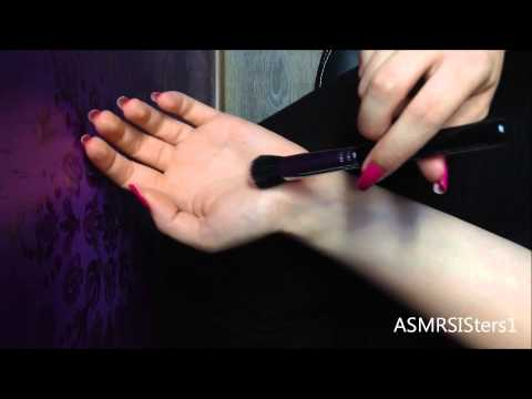 ASMR Arm tickling with brush