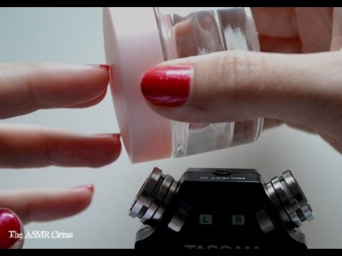 ASMR Glass Jar . Tapping . Scratching . Lid Sounds . Whispering . Close Up Sounds & Visuals