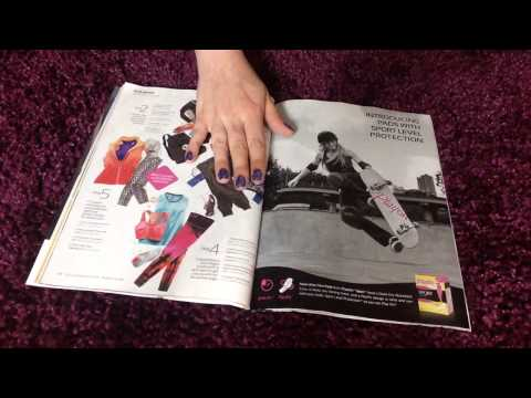 ASMR - Requested Magazine Page Flipping and Tracing