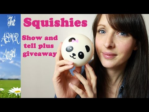 Squishies show and Tell + Giveaway |ASMR Plastic & Crinkly Sounds|