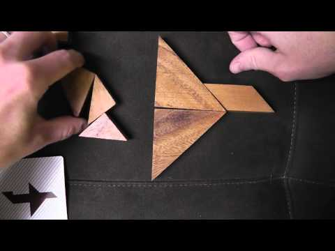 Whispered Tangram Puzzle Solving with Wooden Pieces (Part2) for ASMR & Relaxation