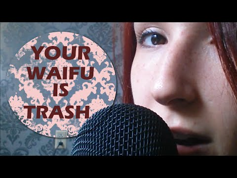 ASMR - WHISPERING BULLY ~ NEGATIVE Affirmations w/ Gum Chewing & Mouth Sounds