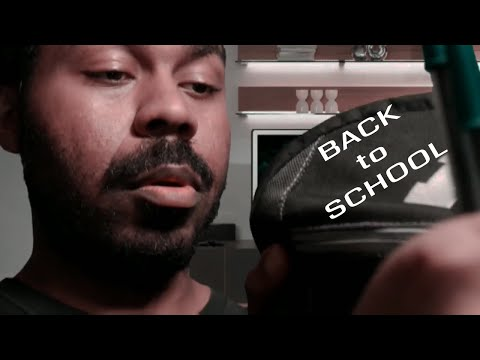 ASMR - Back to School Roleplay   School Supplies (1 Year Anniversary Video)