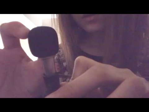 ASMR TINGLY Mic Sounds~Close-Up Rubbing & Whispering