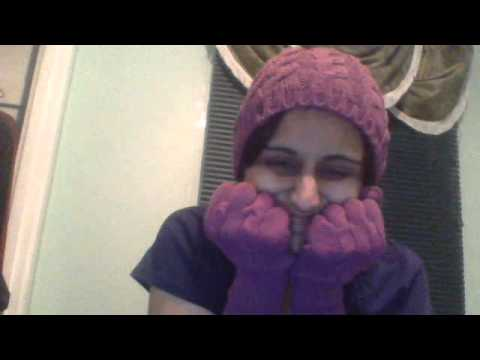 asmr relax  winter hat and gloves