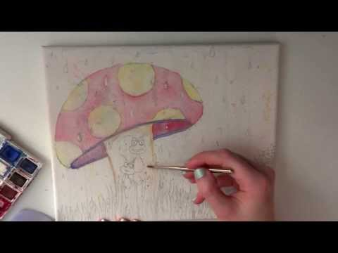 ~ ASMR ~ Painting on Canvas ~ Soft Spoken, Brushing, Tapping ~