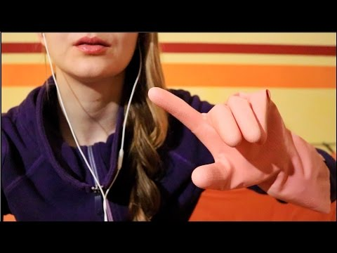 Binaural ASMR ▲ Hand movements with Rubber Gloves ▲