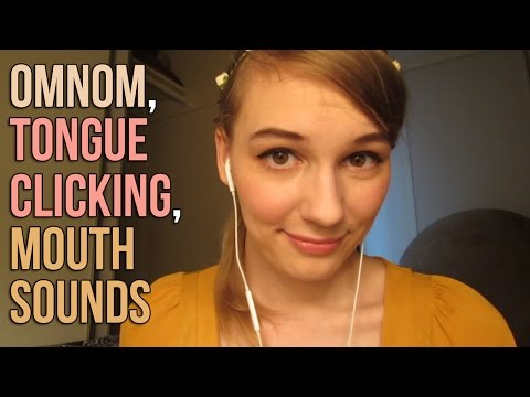 [BINAURAL ASMR] Omnom, Tongue Clicking, Mouth Sounds (w/ some ear-to-ear whispering)