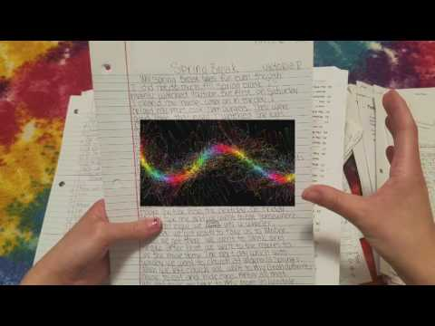 ASMR ~ Going Though Old School Papers ~ Paper Sounds ~ Low Voice ~ Part 1