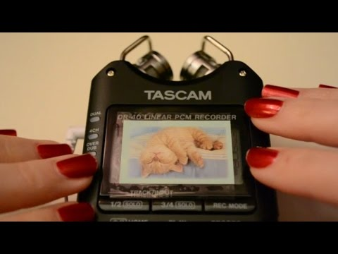 ASMR Tapping On Mic w/ Tascam DR-40 . Test Video