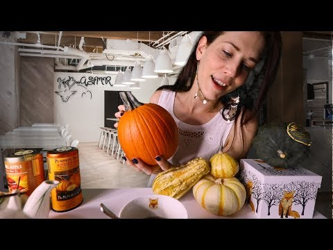 Tapping Pumpkins at the Tingly Tea Cafe   ASMR Chatty Waitress Roleplay