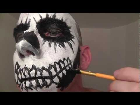 Skull Face Painting Makeup Tutorial & Role Play for ASMR and Relaxation